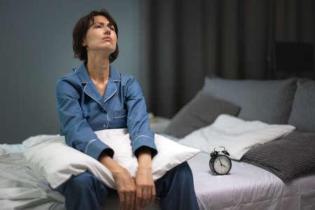 Woman having sleep disorder