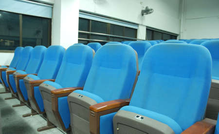 blue chairs in conference room Stock Photo - 7181299