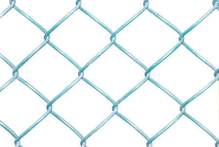 Metal fence isolated in white Stock Photo - 7480049
