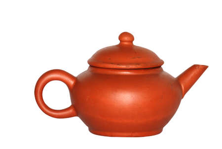 Chinese tea pot isolated in white background Stock Photo - 7480059
