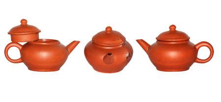 tea pot set isolated on white Stock Photo - 7922236