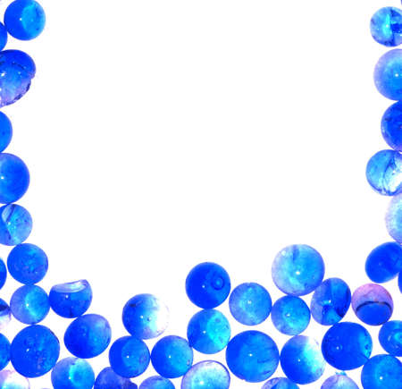 blue silica gel desiccant blank frame abstract background photo