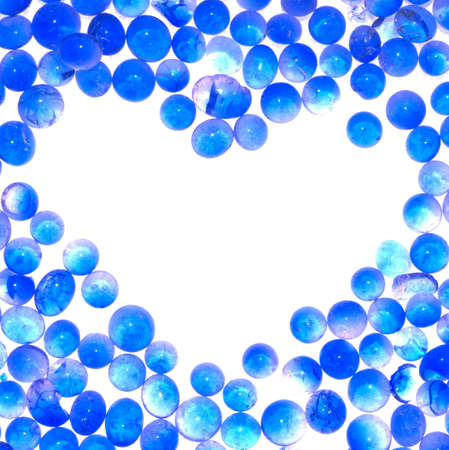 blue gel heart sharp abstract frame background photo
