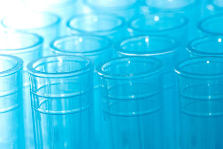 science blue test pipette plastic tips Stock Photo - 8535137