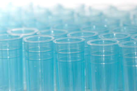 science blue test pipette plastic tips Stock Photo - 8535142