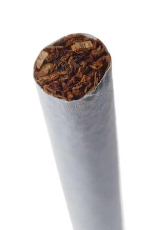 cigarette macro isolated on white background photo