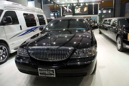 lincoln: GUANGZHOU, CHINA - DEC 27: Lincoln limousine crystal car on display at the 8th China international automobile exhibition. on December 27, 2010 in Guangzhou China. Editorial