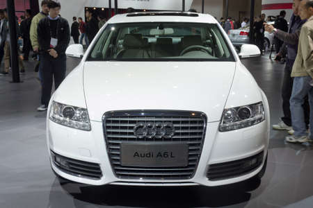 GUANGZHOU, CHINA - DEC 27: Audi A6L car on display at the 8th China international automobile exhibition. on December 27, 2010 in Guangzhou China. Stock Photo - 8644913