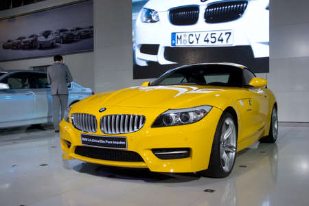 motor show: GUANGZHOU, CHINA - DEC 27: BMW Z4 car on display at the 8th China international automobile exhibition. on December 27, 2010 in Guangzhou China.