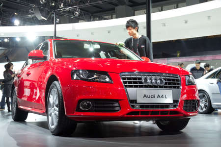 GUANGZHOU, CHINA - DEC 27: Audi A4L car on display at the 8th China international automobile exhibition. on December 27, 2010 in Guangzhou China. Stock Photo - 8644922
