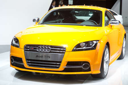 GUANGZHOU, CHINA - DEC 27: Audi TTS car on display at the 8th China international automobile exhibition. on December 27, 2010 in Guangzhou China.