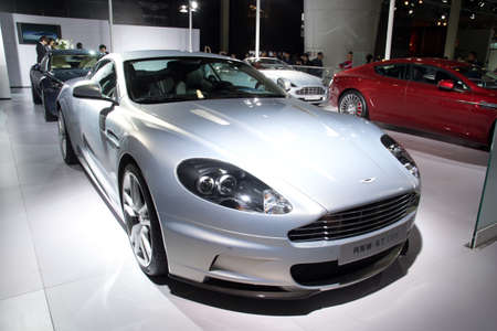 martin: GUANGZHOU, CHINA - DEC 27: Aston Martin DBS sport car on display at the 8th China international automobile exhibition on December