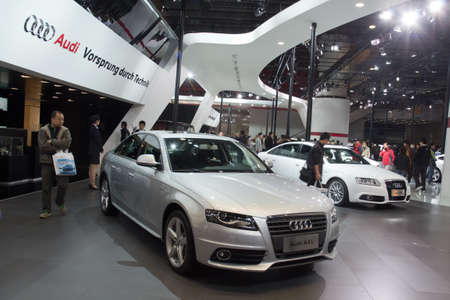 GUANGZHOU, CHINA - DEC 27: Audi A4L car on display at the 8th China international automobile exhibition. on December 27, 2010 in Guangzhou China. Stock Photo - 8692874