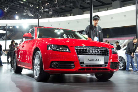 GUANGZHOU, CHINA - DEC 27: Audi A4L car on display at the 8th China international automobile exhibition. on December 27, 2010 in Guangzhou China. Stock Photo - 8692868