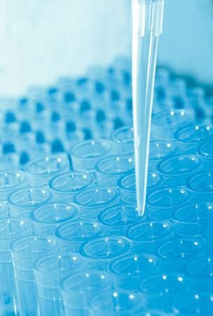 science test pipette plastic tips Stock Photo - 8745140