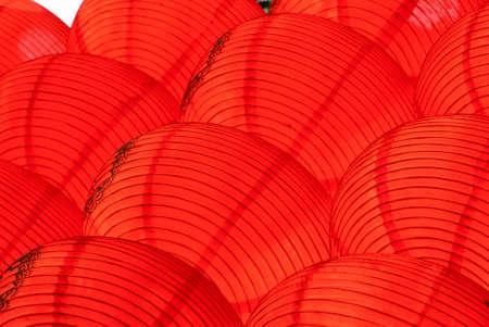 chinese new year red lantern photo