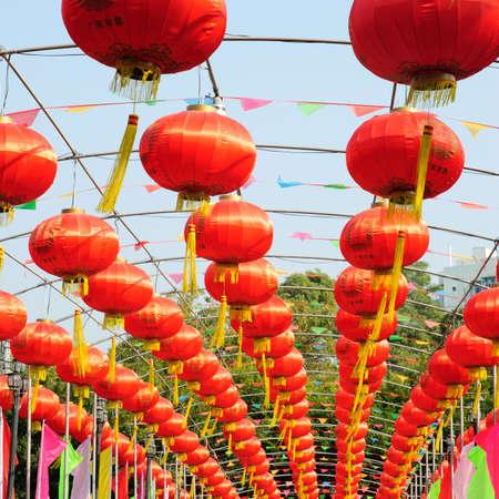 chinese new year red lantern Stock Photo - 8745308