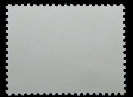 blanked: postage stamp black blank frame background