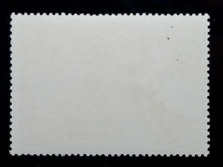 postage stamp black blank frame background Stock Photo - 8936127