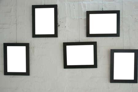 art museum: telaio sul muro squallido in museo d'arte Archivio Fotografico