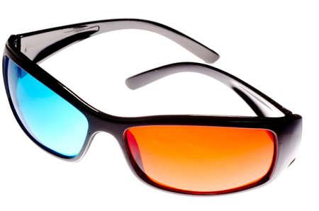 Gafas 3D aislados en blanco
