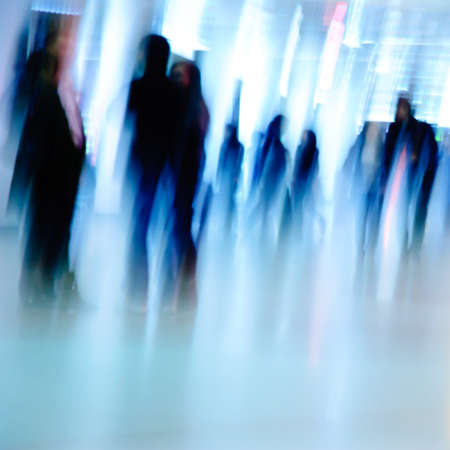 business people background blur motion photo