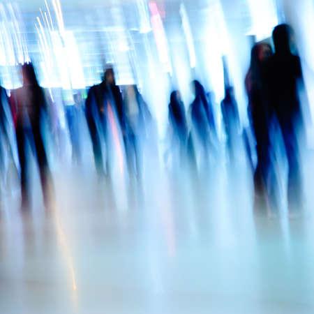 ghost face: fondo uomini d'affari motion blur Archivio Fotografico