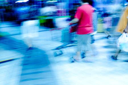 city people crowd on business walking street blur motion photo