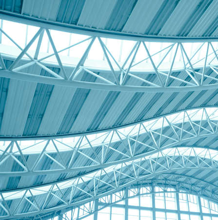 modern city architecture ceiling detail Stock Photo - 10752608
