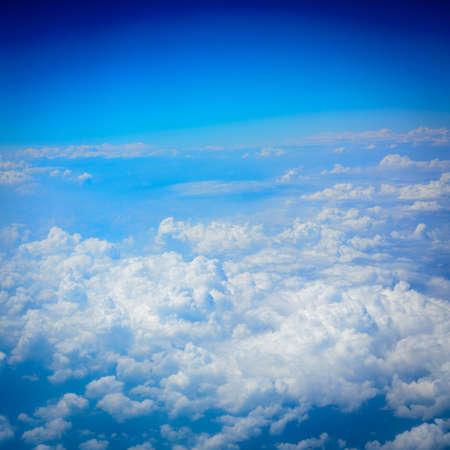 blue sky white cloud background photo