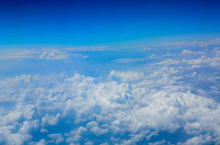 blue sky white cloud background photo