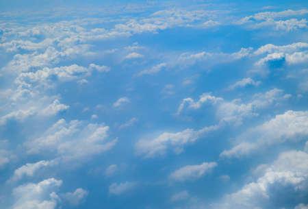 blue sky white cloud background Stock Photo - 10752645