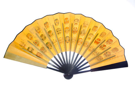 Chinese opera mask folding fan photo