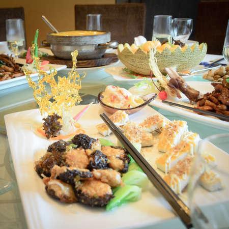 sabroso: Alto grado comida China en restaurante