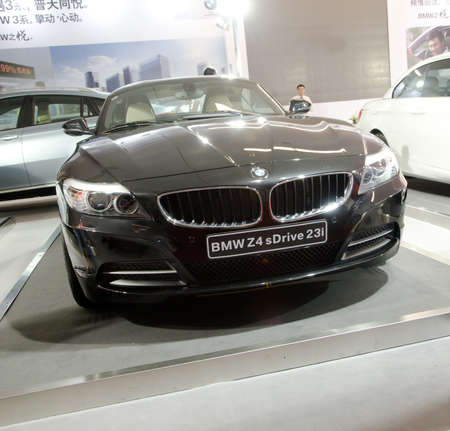 GUANGZHOU, CHINA - OCT 02: BMW Z4 s Drive 23i car on display at the Guangzhou daily Baiyun international automobile exhibition. on October 02, 2011 in Guangzhou China.