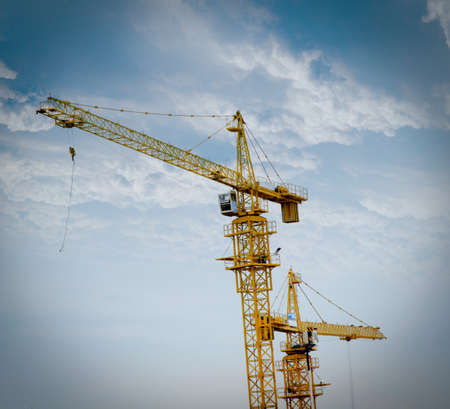 mobile crane: industry construction machine crane Stock Photo