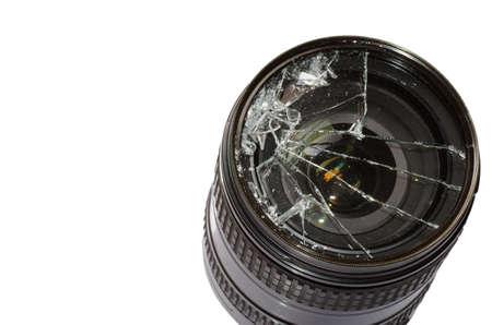 Broken DSLR camera lens