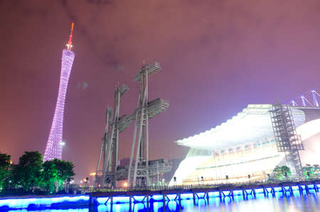Guangzhou, China - Nov. 05: Guangzhou new TV Tower night  landscape on Nov. 05, 2011 in Guangzhou, China. It is the highest TV Tower in the world.