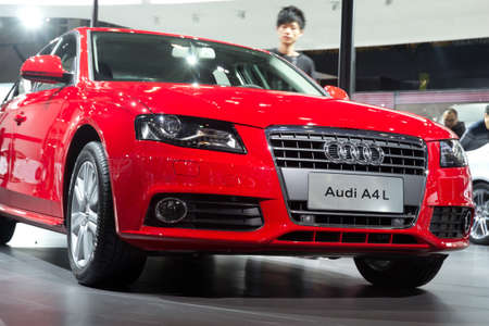 GUANGZHOU, CHINA - DEC 27: Audi A4L car on display at the 8th China international automobile exhibition. on December 27, 2010 in Guangzhou China.