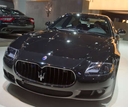 shiny car: GUANGZHOU, CHINA - DEC 27: Maserati car on display at the 8th China international automobile exhibition. on December 27, 2010 in Guangzhou China. Editorial