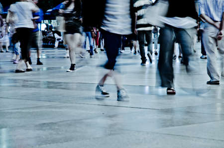 Geschäftsleute abstrakt blur motion Standard-Bild - 11730118