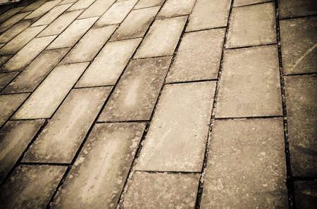 paved: brick road background Stock Photo