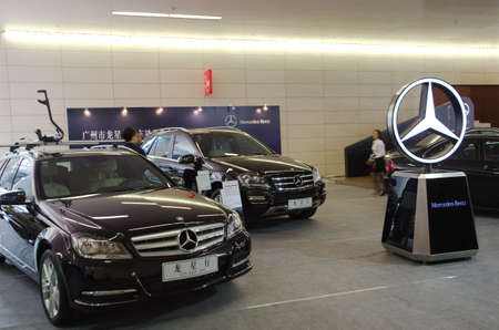GUANGZHOU, CHINA - OCT 02: Mercedes benz car on display at the Guangzhou daily Baiyun international automobile exhibition. on October 02, 2011 in Guangzhou China.