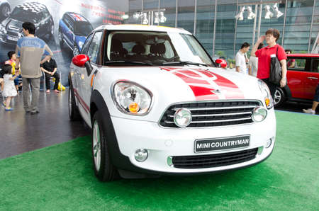 GuANGZHOU, CHINA - OCT 02: Mini Cooper Countryman car on display at the Guangzhou daily Baiyun international automobile exhibition. on October 02, 2011 in Guangzhou China. Stock Photo - 11729131