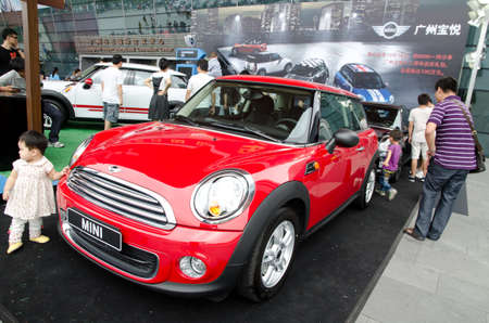 GuANGZHOU, CHINA - OCT 02: Mini Cooper  car on display at the Guangzhou daily Baiyun international automobile exhibition. on October 02, 2011 in Guangzhou China.