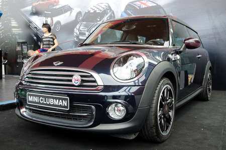 GuANGZHOU, CHINA - OCT 02: Mini Cooper Clubman car on display at the Guangzhou daily Baiyun international automobile exhibition. on October 02, 2011 in Guangzhou China.
