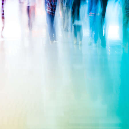 unrecognizable people: city business people crowd abstract background