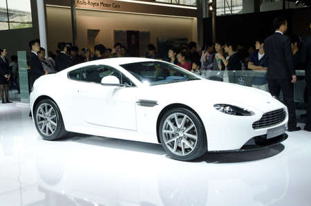 GUANGZHOU, CHINA - Nov 26: Aston Martin V8 Vantage S sport car on display at the 9th China international automobile exhibition. on November 26, 2011 in Guangzhou China. Stock Photo - 11729020