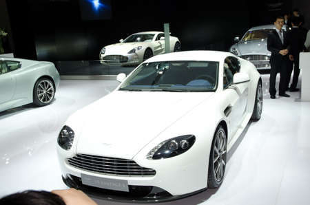 GUANGZHOU, CHINA - Nov 26: Aston Martin V8 Vantage S sport car on display at the 9th China international automobile exhibition. on November 26, 2011 in Guangzhou China. Stock Photo - 11729009