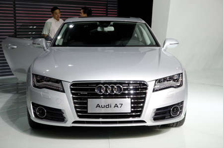 GUANGZHOU, CHINA - Nov 26: Audi A7 car on display at the 9th China international automobile exhibition. on November 26, 2011 in Guangzhou China.